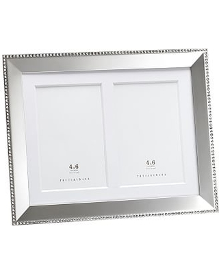 Deals on Beaded Silver-Plated Multiple Opening Picture Frame, 8 x 10\
