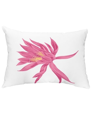 Hojaver 14x20 inch Pink Floral Decorative Outdoor Pillow
