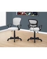 Kid's White Mesh Multi-Position Office Chair - Monarch Specialties I-7261