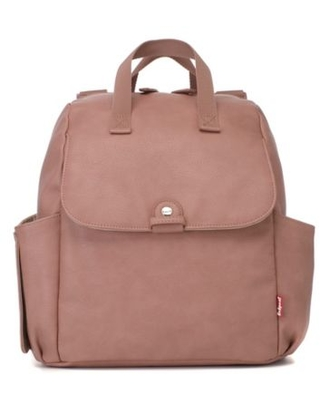 BabyMel™ Robyn Faux Leather Convertible Backpack Diaper Bag in Dusty Pink