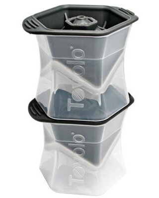 """Tovolo Tovolo Colossal Ice Cube Tray, Plastic/Acrylic in Black, Size 4.75"""" L x 4.12"""" W x 7.5"""" H 