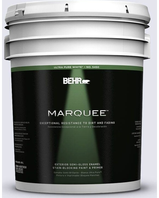 BEHR MARQUEE 5 gal. #630C-1 Lavender Haze Semi-Gloss Enamel Exterior Paint and Primer in One