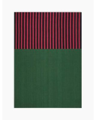 """Calvin Klein Nashville ""12 South"" Hunter Green/Magenta/Black Area Rug by Nourison - Nourison CK750"""
