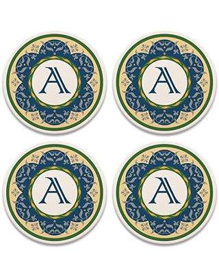 CoasterStone Intricate Victorian Set of 4 Coasters, One Size, Multicolored