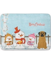 The Holiday Aisle Merry Christmas Carolers Mastiff Memory Foam Bath Rug THLA4955 Color: Chocolate/Brown
