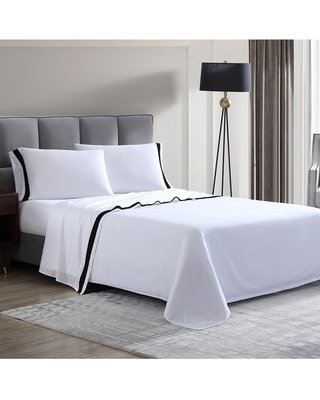 MODERN THREADS Italian Hotel Collection 300 Thread Count 100% Cotton 4-Piece Full Sheet Set - Black at Nordstrom Rack