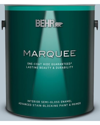 BEHR MARQUEE 1 gal. #560E-3 Silver Strand Semi-Gloss Enamel Interior Paint and Primer in One