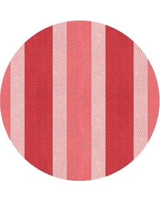 East Urban Home Hinkle Striped Wool Red Area Rug W000595641 Rug Size: Round 4'