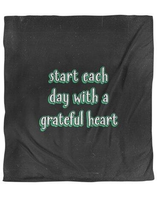 East Urban Home Gratitude Inspirational Quote Chalkboard Style Duvet Cover - Brushed Polyester EBKJ4402 Color: Black/Green Size: King Duvet Cover