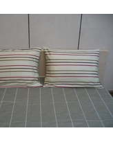 DaDa Bedding Stripe 200 Thread Count Cotton Fitted Sheet Set DABD1318 Size: Queen