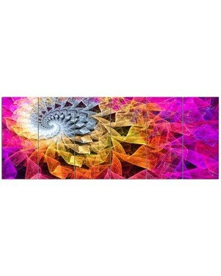 Design Art 'Colorful Spiral Kaleidoscope' 6 Piece Graphic Art Print Set on Canvas PT15820-628