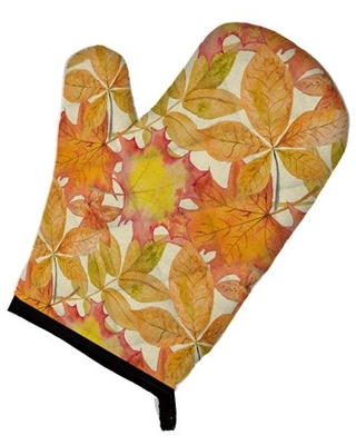 Fall Leaves Watercolor Oven Mitt