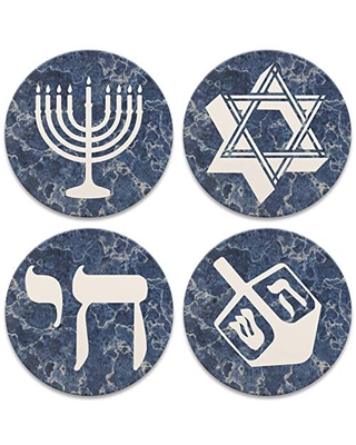 CoasterStone 8 Nights Set of 4 Coasters, One Size, Multicolor