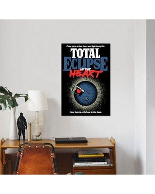 """East Urban Home 'Total Eclipse of the Heart' Graphic Art Print on Canvas ERBR0565 Size: 18"""" H x 12"""" W x 0.75"""" D"""