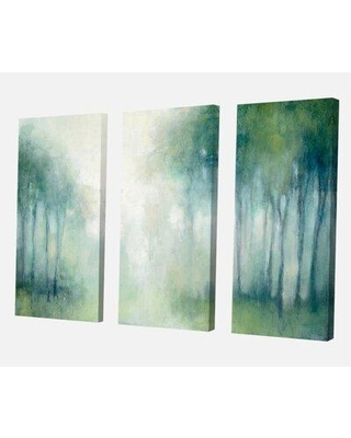 """East Urban Home Premium 'Walk in the Forest' Painting Multi-Piece Image on Canvas FCJK3994 Size: 28"""" H x 36"""" W x 1"""" D"""