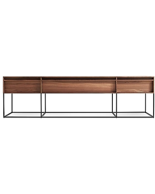 Rule Long and Low Credenza by Blu Dot - Color: Wood - Finish: Walnut - (RL1-LNGLOW-WL)