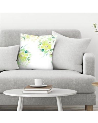 "East Urban Home Victoria Nelson Floral Watercolor Throw Pillow EBIB9999 Size: 18"" x 18"""