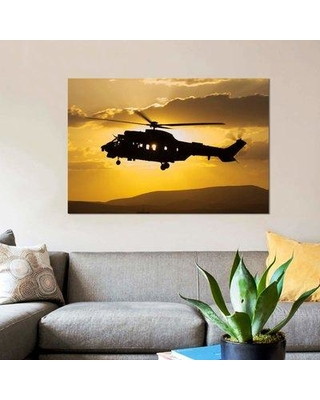 "East Urban Home 'Turkish Air Force AS532 Cougar CSAR Helicopter Flying over Turkey' Photographic Print on Canvas EBHR4001 Size: 18"" H x 26"" W x 0.75"" D"