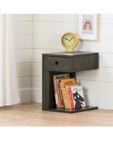 South Shore Sweedi 1 Drawer Nightstand 130 Color: Black