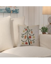 "Beachcrest Home Decorative Holiday Geometric Print Throw Pillow SEHO5913 Size: 26"" H x 26"" W, Color: Off White"