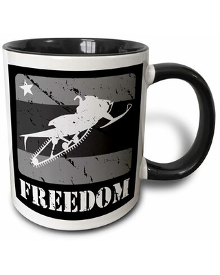 Spectacular Savings On Chertsey Scale Snowmobile Distressed Graphics And Text Stating Freedom Coffee Mug Symple Stuff Capacity 15 Oz Color Black