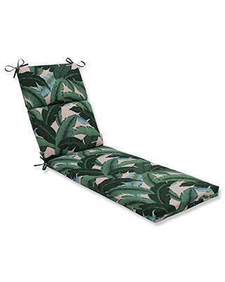 Pillow Perfect Outdoor/Indoor Swaying Palms Capri Chaise Lounge Cushion, 1 Count (Pack of 1), Green