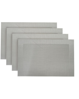 Dainty Home Napa Silver Textilene Placemat (Set of 4)