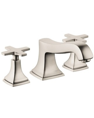 Metropol Classic Double Handle Deck Mounted Roman Tub Faucet Trim Hansgrohe Finish: Brushed Nickel