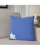"The Holiday Aisle Star's Corner Throw Pillow HLDY7487 Color: Blue, Size: 20"" H x 20"" W"