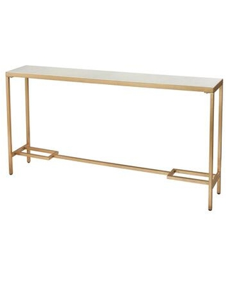 1114-315 Equus Tall Console Table In Gold