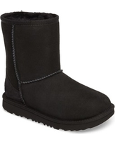 Kid's Ugg Classic Ii Water Resistant Genuine Shearling Boot, Size 5 M - Black
