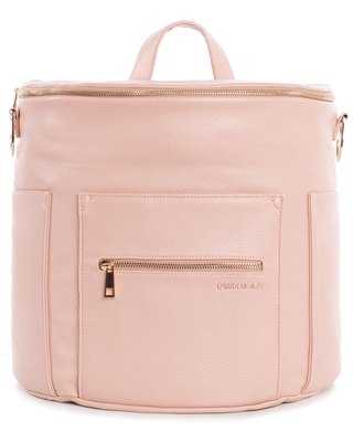 Infant Fawn Design The Original Convertible Water Resistant Faux Leather Diaper Bag - Pink