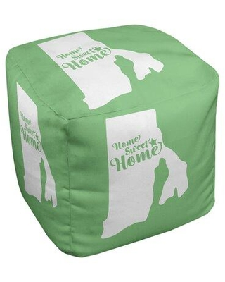 East Urban Home Home Sweet Providence Cube Ottoman EBJC3161 Upholstery Color: Green
