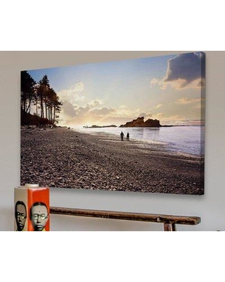 """Marmont Hill 'Sunset Beach Walk' Painting Print on Canvas MH-SYCK-36-C Size: 40"""" H x 60"""" W Format: Wrapped Canvas"""