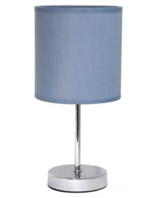 Mini Table Lamp in Chrome with Purple Shade