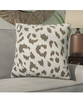 Bloomsbury Market Tyre Cheetah Linen Throw Pillow BLMT7564 Color: Smoky Gray