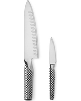 """Global Classic 7"""" Hollow-Ground Chef's Knife & 3"""" Paring Knife 2-Piece Set"""
