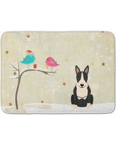 The Holiday Aisle Christmas Bull Terrier Memory Foam Bath Rug THLA4298 Color: Black/White