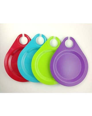 Eco Bamboo Wine Party Plates Yumi Eco Solutions Color: Multi-color