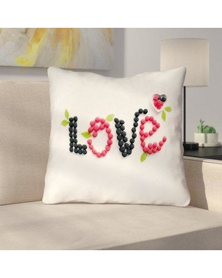 "Latitude Run Buoi Love & Berries Double Sided Print Throw Pillow LDER2053 Size: 18"" x 18"""