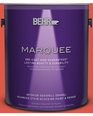 BEHR MARQUEE 1 gal. #T12-7 Red Wire Eggshell Enamel Interior Paint and Primer in One