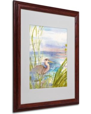 """Trademark Art """"Reflection"""" by Sheila Golden Framed Painting Print SG5648- Size: 20"""" H x 16"""" W x 0.5"""" D Frame: Brown - Beveled"""