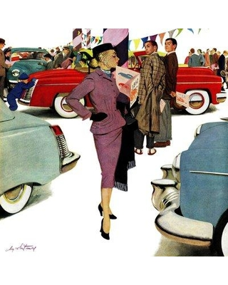 """Marmont Hill Woman in Showroom? by M. Coburn Whitmore Painting Print on Wrapped Canvas MH-RETR-200-C- Size: 40"""" H x 40"""" W"""