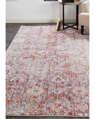 Weave & Wander Pink / Gray Matana 5 ft 3 in x 7 ft 6 in Area Rug