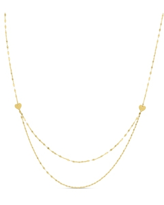 Jared The Galleria Of Jewelry Tiered Chain Layer Necklace 14K Yellow Gold