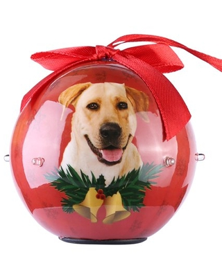 2019 Christmas Ball Ornaments Annual Edition with lights, Glittering Christmas Tree Pendants Decorative Hanging Christmas Dog Collection Balls for Holiday Party Indoor Outdoor Decoration