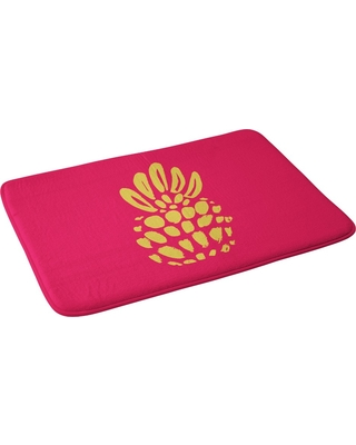 "Allyson Johnson Pineapple Bath Rugs and Mats Pink 24"" x 36"" - Deny Designs"