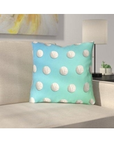 """East Urban Home Ombre Volleyball Double Sided Print Throw Pillow URBR7203 Size: 18"""" x 18"""", Color: Blue/Green"""