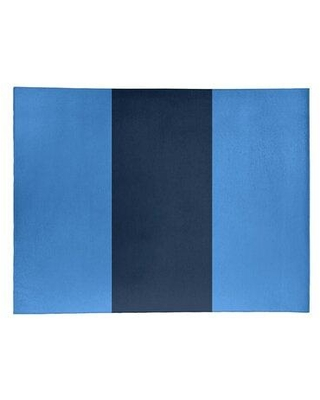 East Urban Home Tennessee Football Stripes Poly Blue Area Rug FCLS3317 Rug Size: Round 5'