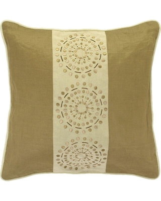 Artistic Weavers DotsD 18 in. x 18 in. Decorative Pillow, Beige/Ivory